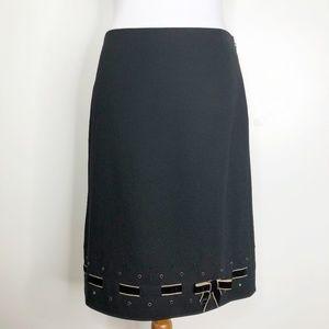 Ann Taylor Wool Skirt w/ Velvet Bow
